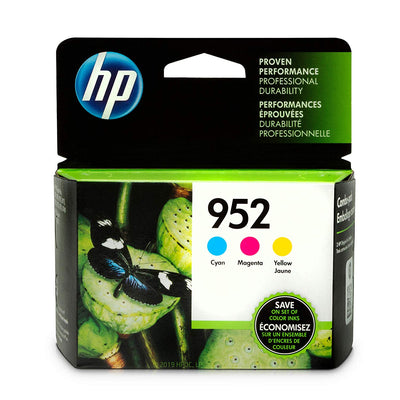 HP 952 N9K27AN 3 Ink Cartridges Cyan, Magenta, Yellow L0S49AN, L0S52AN, L0S55AN