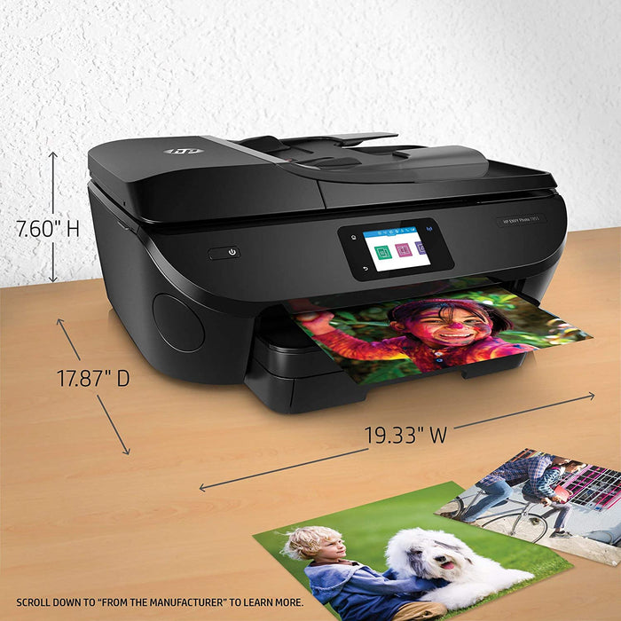 HP Envy Photo 7855 All in One Photo Printer Wireless Printing, Instant Ink Ready (K7R96A) (Certified Refurbished)
