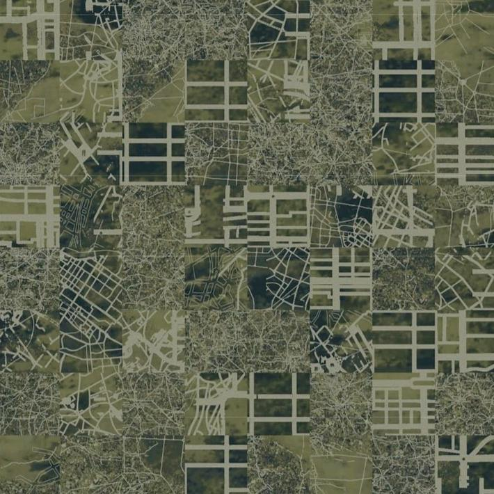 Ege Carpets Aerial Map - Dark Green
