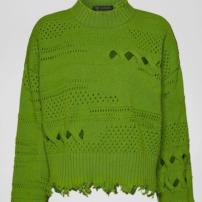 Versace Distressed Wool Sweater