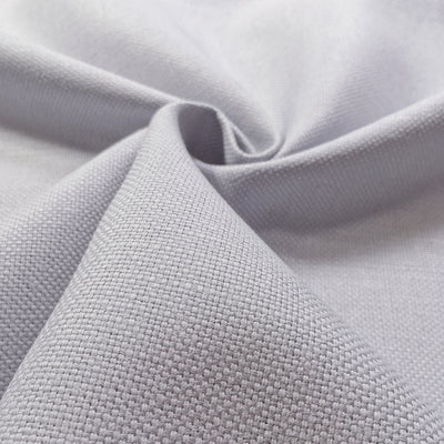 Grey plain linen-cotton mix