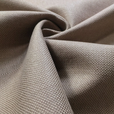 Mushroom plain linen-cotton mix