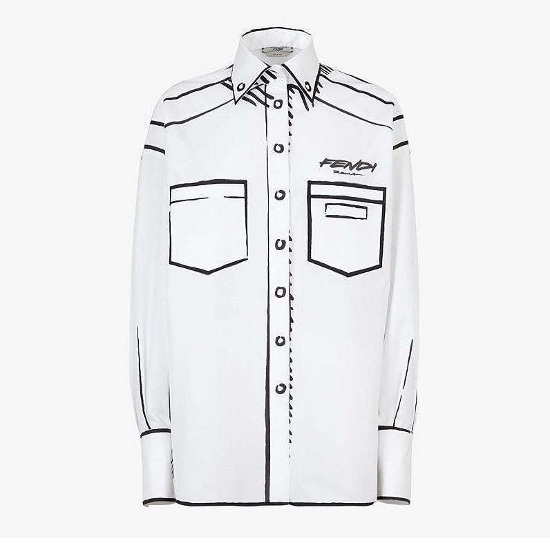 Fendi Roma Joshua Vides Cotton Shirt