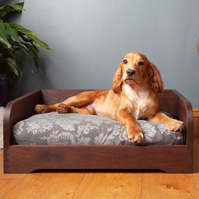 Milo & Pi  Breock Cabinetry Luxury Black Walnut Dog Bed