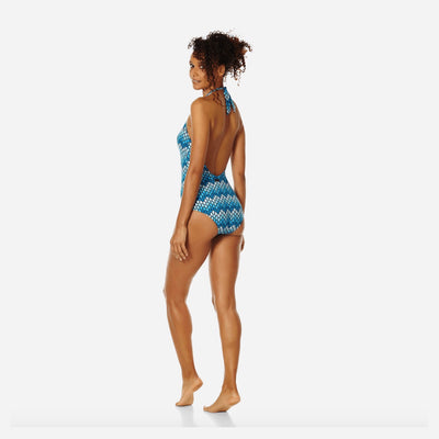 Vilebrequin One Piece Shaping Herringbone Turtles Swimsuit