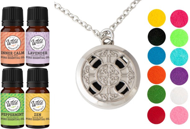 Necklace Diffuser With Oils (Alloy)