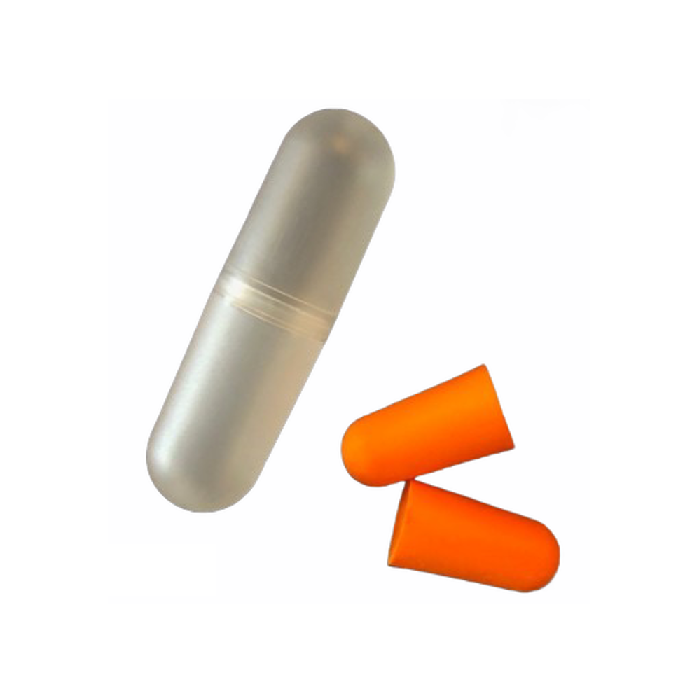 Earplugs with snap case - 12 Pack