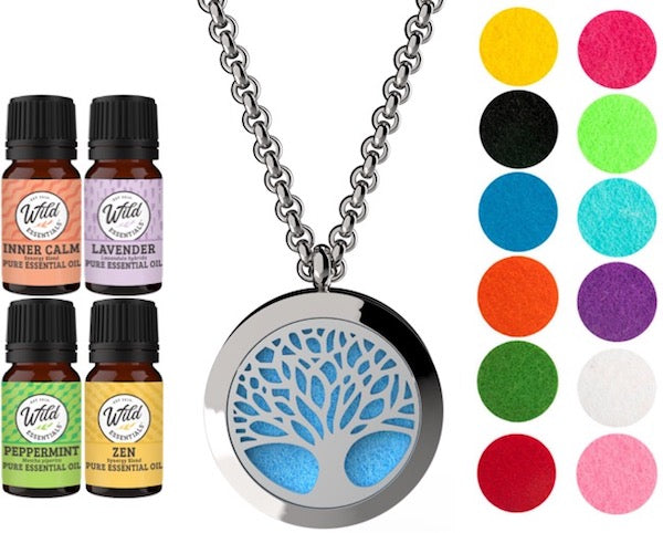 Necklace Diffusers With Oils (Stainless Steel)