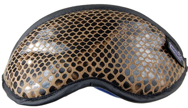 Micro Suede Snake Skin Style Sleep Mask - Made in the USA