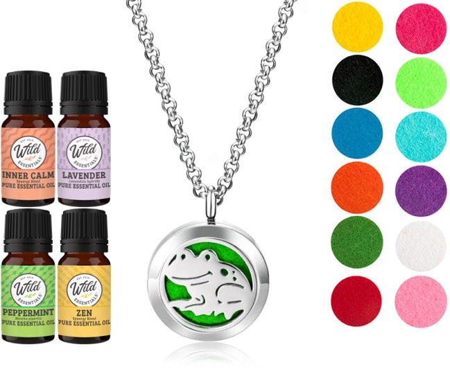 Necklace Diffusers With Oils (Stainless Steel) - Dream Essentials LLC.