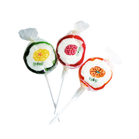 Sucettes fruits - Lot de 3, 6 ou 9
