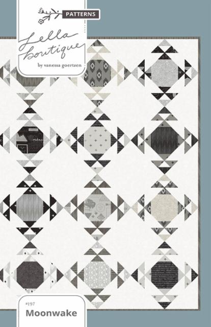 Moonwake Quilt Pattern Featuring Rust And Smoke by Lella Boutique For Moda Fabrics