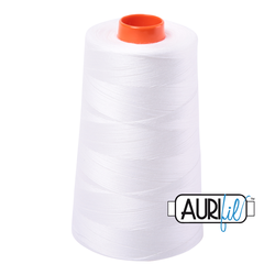 Aurifil Cotton Mako Thread - Natural White (2021) - Cone (5900 m/6452 yd)