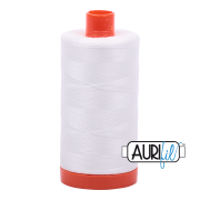 Aurifil Cotton Mako Thread - Natural White (2021) - Large Spool (1300m/1422yd) - BUY 2 SPOOLS for $26.99 and Save $3.00
