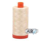 Aurifil Cotton Mako Thread - Light Lemon (2110) - Large Spool (1300m/1422yd)