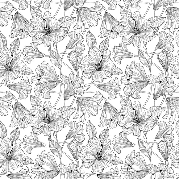 White/Black - 23912-99 - Simply Neutral 2 by Northcott Fabrics