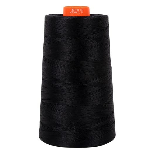 Aurifil Cotton Mako Thread - Black (2692) - Cone (5900 m/6452 yd)
