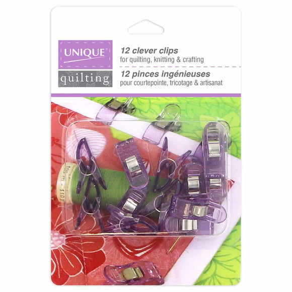 Clever Clips by Unique Quilting - Size Small (12 clips)