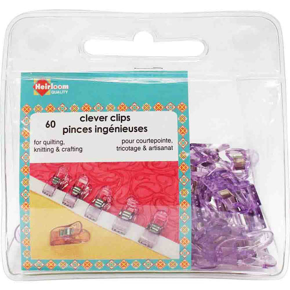 Clever Clips by Heirloom - Size Small (60 clips)