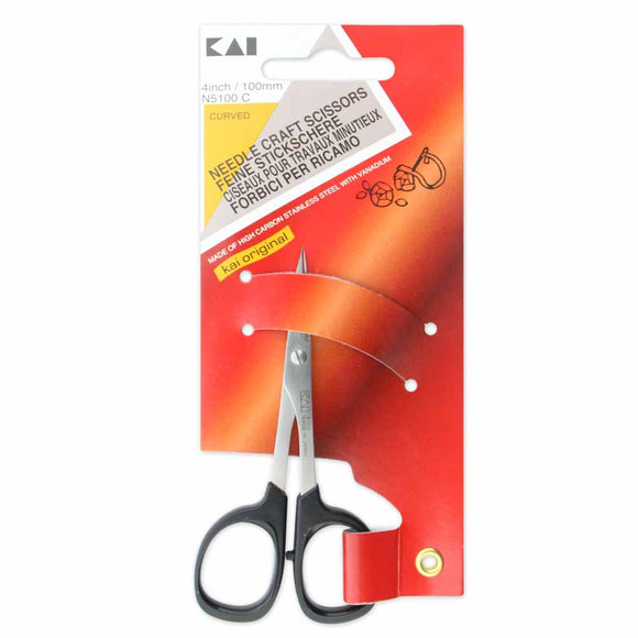 KAI 5100C 4″ Curved Tip Embroidery Scissors - 4″ (10 cm)