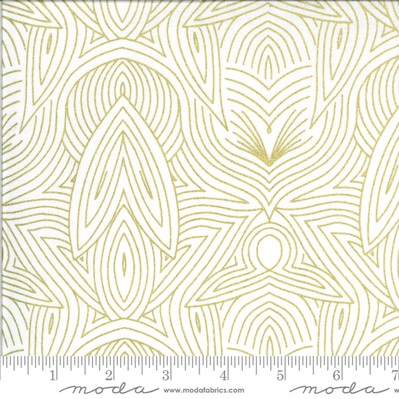 Ivory Gold (48316 33M) - Dwell In Possibility by Gingiber for Moda Fabrics - $19.99/m