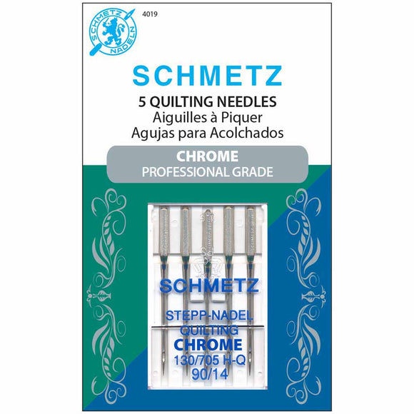 Schmetz Chrome Professional Grade Quilting Needles - Size 90/14