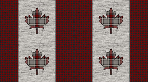 My Canada Placemats (4) -  Gray Multi (C24006 92) - My Canada by Deborah Edwards for Northcott Fabrics