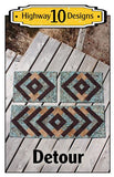 Detour Table Runner and Place Mats Pattern by Highway 10 Designs