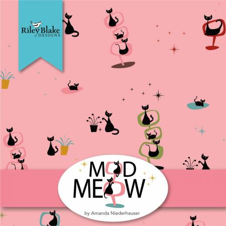 Fat Quarter Bundle (24 FQs) - Mod Meow by Riley Blake Designs