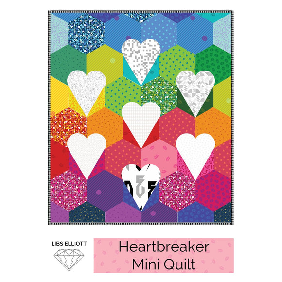 Heartbreaker English Paper Piecing (EPP) Mini Quilt Pattern by Libs Elliot