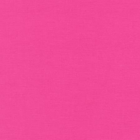Bright Pink - Kona Cotton Solids by Robert Kaufman