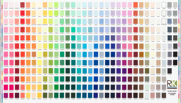 Kona Cotton Solids Printed Fabric Colour Chart Panel