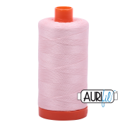 Aurifil Cotton Mako Thread - Pale Pink (2410) - Large Spool (1300m/1422yd)