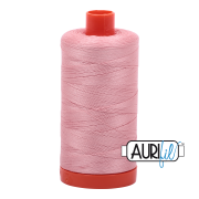 Aurifil Cotton Mako Thread - Light Peony (2437) - Large Spool (1300m/1422yd)