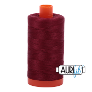 Aurifil Cotton Mako Thread - Dark Carmine Red (2460) - Large Spool (1300m/1422yd)