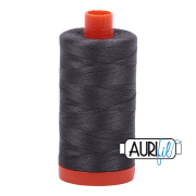Aurifil Cotton Mako Thread - Dark Pewter (2630) - Large Spool (1300m/1422yd) - BUY 2 SPOOLS for $26.99 and Save $3.00