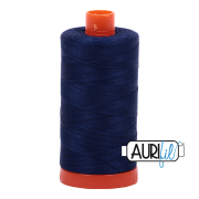 Aurifil Cotton Mako Thread - Dark Navy (2784) - Large Spool (1300m/1422yd) - BUY 2 SPOOLS for $26.99 and Save $3.00