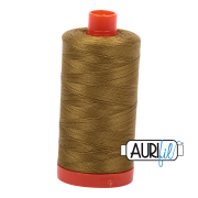 Aurifil Cotton Mako Thread - Medium Olive (2910) - Large Spool (1300m/1422yd) - BUY 2 SPOOLS for $26.99 and Save $3.00