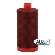Aurifil Cotton Mako Thread - Copper Brown (4012) - Large Spool (1300m/1422yd) - BUY 2 SPOOLS for $26.99 and Save $3.00