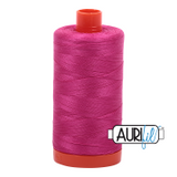 Aurifil Cotton Mako Thread - Fuchsia (4020) - Large Spool (1300m/1422yd)