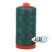 Aurifil Cotton Mako Thread - Turf Green (4129) - Large Spool (1300m/1422yd) - BUY 2 SPOOLS for $26.99 and Save $3.00