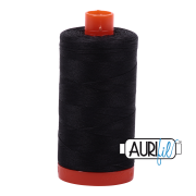 Aurifil Cotton Mako Thread - Very Dark Grey (4241) - Large Spool (1300m/1422yd)