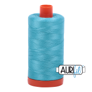 Aurifil Cotton Mako Thread - Bright Turquoise (5005) - Large Spool (1300m/1422yd) - BUY 2 SPOOLS for $26.99 and Save $3.00