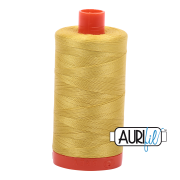 Aurifil Cotton Mako Thread - Gold Yellow (5015) - Large Spool (1300m/1422yd) - BUY 2 SPOOLS for $26.99 and Save $3.00