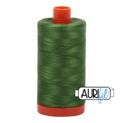 Aurifil Cotton Mako Thread - Dark Grass Green (5018) - Large Spool (1300m/1422yd)