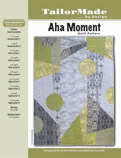 Aha Moment Pattern by Tailor Made by Design