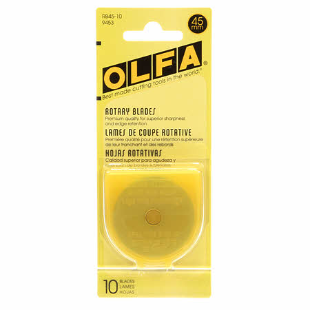 45mm Rotary Cutter Blades by Olfa - 10 Pack