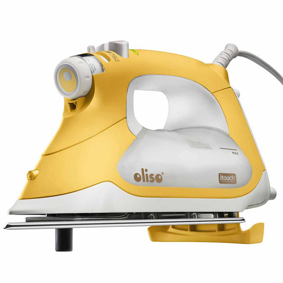 OLISO PRO TG1600 Smart Iron - Designed for Quilters and Sewers - Yellow