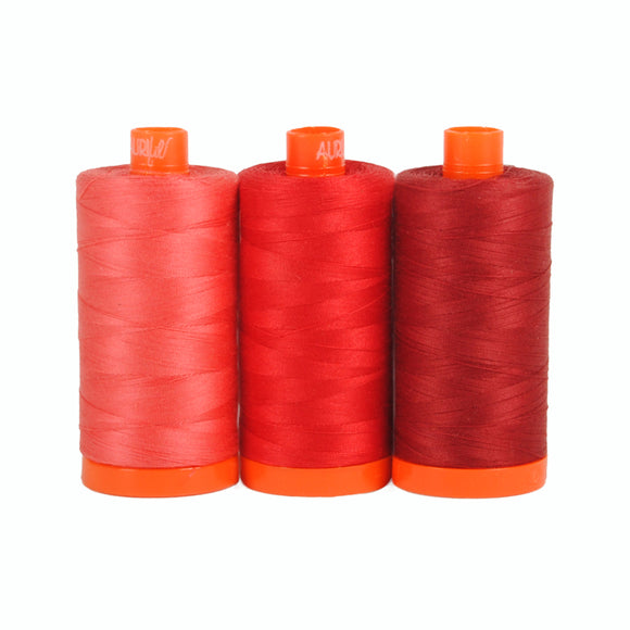 Pompeii Red - Aurifil Color Builders - 50wt