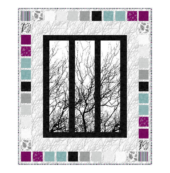Dark Room Quilt Kit Featuring Silhouette By Northcott Fabrics - 61
